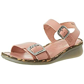 Fly London Women's COMB230FLY Open Toe Sandals, Pink (Rose 008), 8 (41 EU)