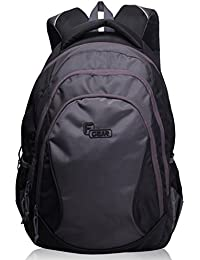F Gear Dom Polyester 35 Ltrs Grey Laptop Backpack (2324)