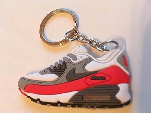 Preisvergleich Produktbild Nike Air Max Schlüsselanhänger Weiß-Rot Sneaker Keychain Red