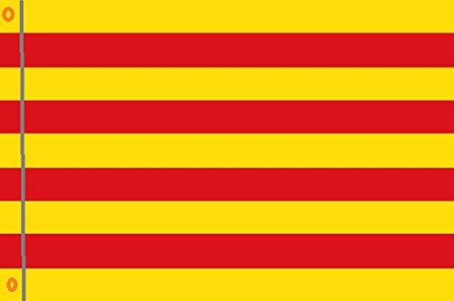 DURABOL Bandera de Cataluña flag 90x150cm SATIN 2 anillas metálicas fijadas en el dobladillo