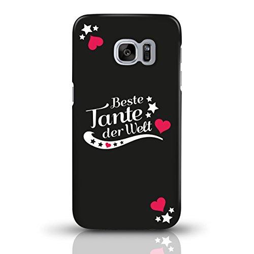 """JUNIWORDS Handyhüllen Slim Case für Samsung Galaxy S7 mit Schriftzug """"Beste Tante der Welt"""" - ideales Weihnachtsgeschenk für die Tante - Motiv 2 - Handyhülle, Handycase, Handyschale, Schutzhülle für I motiv 1"""