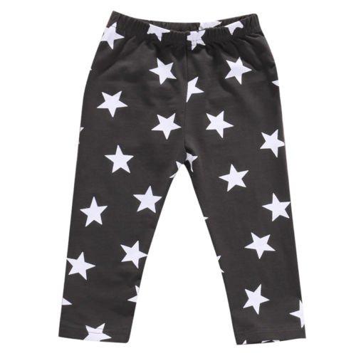 ZXCVBN Kinder Kleinkind Baby Boy Mädchen Kleidung Star Printed Pluderhose Hose Bottom Leggings 0-24M,blau,13-18 Monate