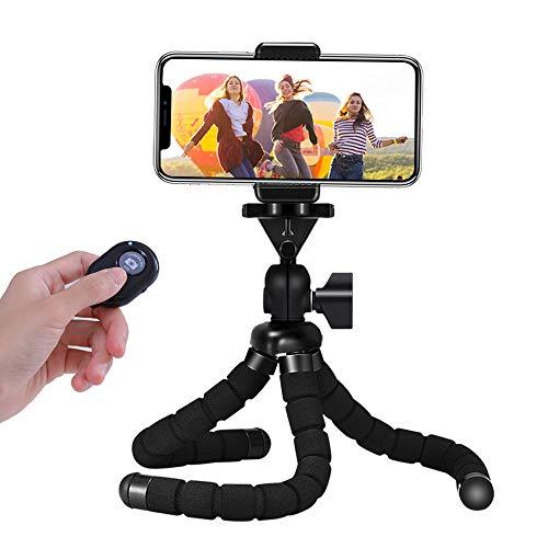 Handy Stativ, Mini Flexible Octopus Style Smartphone Reise Stativ, Handy Halter Halterung für Kamera, iPhone, Sumsung und andere Android-Smartphone mit Bluetooth Fernsteuerung