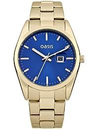 OASIS B1368 - Reloj analógico de cuarzo para mujer, correa de otros materiales color dorado