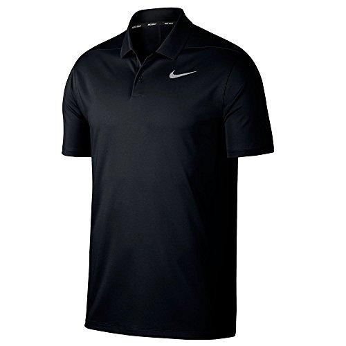 Nike Victory Golf Polo (Nike Herren Dry Victory Poloshirt, Schwarz (Black/(Flat Silver), M)