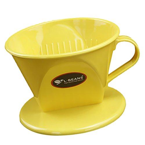 Gazechimp Kunststoff Kaffeefilter Teefilter - Gelb, 11.7cm