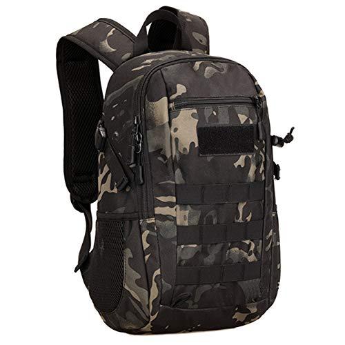 Selighting 12l mini zainetto militare tacttico zaino di assalto con molle borse uomo zaino militare tattico per lo sport e attività all'aperto, campeggio, ciclismo, viaggio (camo nero)