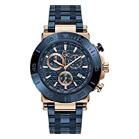 Gc Mens Quartz Watch, Chronograph Display And Stainless Steel Strap - Y70001G7MF