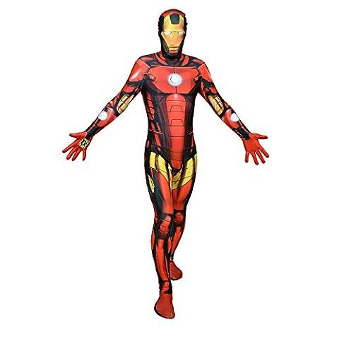 Halloween party digital morphsuit iron man de superman - Multicolore - XXL