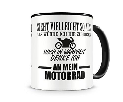 Ich denke an mein Motorrad Tasse Kaffeetasse Teetasse Kaffeepott Kaffebecher Becher