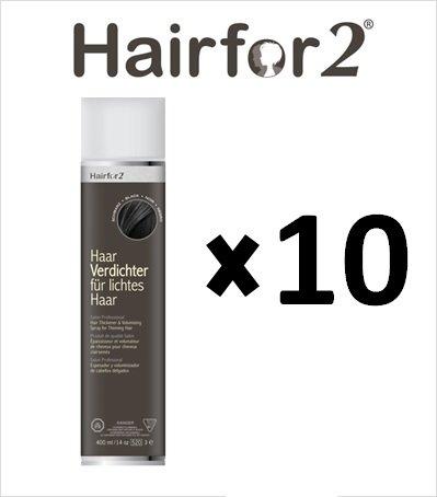 Vorratsangebot! 10 x Hairfor2 Haarverdichtungsspray 300ml (Mittelbraun)