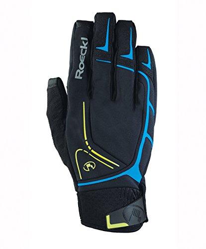 Roeckl Ravenstein Winter Fahrrad Handschuhe lang schwarz/blau: Größe: 9