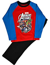 Boys Avengers Assemble Pyjamas Pjs Ages 4 to 10 Years