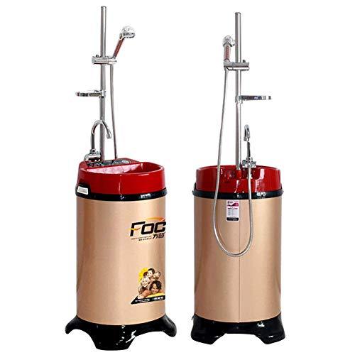 ZNDDB Tragbare Dusche - Mobile Thermostatwasserspeicherdusche, Elektrischer Warmwasserbereiter, Haushaltsdusche, 120L / 220V / 2000W, Gesunde Sterilisation