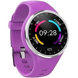 Montres connectées Montre Intelligente Écran Coloré Etanche IP67 Bracelet Connecté Smartwatch Trackers d'Activité (podometre, Distance, Calories) avec Tracker Sommeil Multi Modes Sport