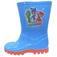 PJ Masks Boys Wellington Boots Blue Wellies Gekko Cat Boy Rain Snow Boots Size UK 5-10