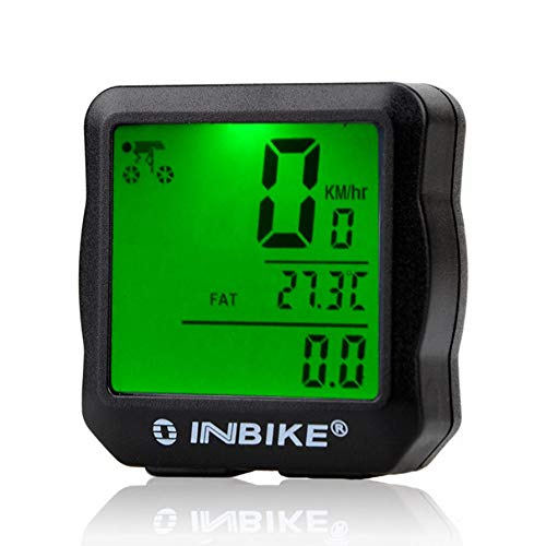 INBIKE Wired Bicycle Odometer Waterproof Backlight LCD Digital Cycling Bike Computer Speedometer Suit for Most Bikes -