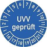Prüfplaketten UVV geprüft 2016 - 2021 Ø 3 cm 100 Stück