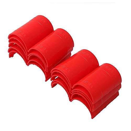RDEXP 50 mm Durchmesser 2 mm Dicke Rot Kunststoff für Klimaanlage Rohr Klemmhülsen für zivile Ausrüstung Zubehör Teil Set von 10 Stück -
