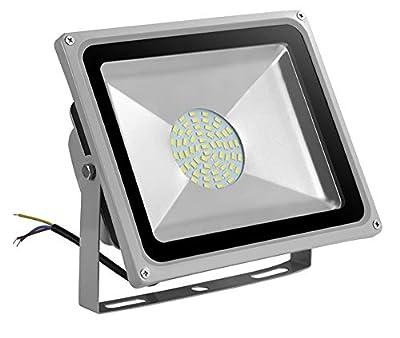 V-TAC LED Fluter Scheinwerfer Strahler 50W Weiß 6000K IP65 4500 Lm Ersetzt 400W Gehäuse grau von V-TAC - Lampenhans.de