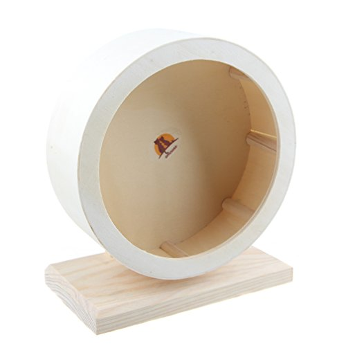 emours Hamster Silent Spinner Komfort Laufrad, Holz Kleintierkäfig Spielzeug