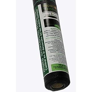 Malla antihierbas 100gr, 15m², para el control en el desarrollo de las malas hierbas. Presentación rollo.