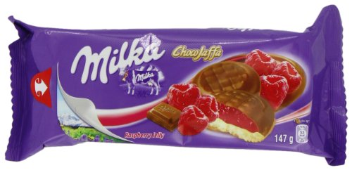 Price comparison product image Milka Choco Jaffa Raspberry Jelly 147 g (Pack of 12)