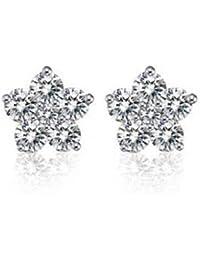 findout plein boucles d'oreilles diamant de flocon de neige (F209)