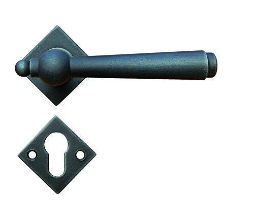 Borchia per porta GedoTec maniglia realizzazione di ferro antico zincato nero ITALO heliobil | BB - PZ - WC | Marchio di qualità | Made in EU, PZ - Profilzylinder - Bed Hardware Parti