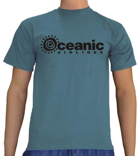 rren T-Shirt Oceanic Airlines - Lost Dharma, steelblue, XL, B1751 (Spaß-halloween-musik Für Eine Party)