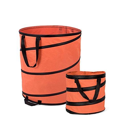 *Fundwerk Pop-up Garten-Abfallsack 15 Liter und 85 Liter im 2er Set, orange*