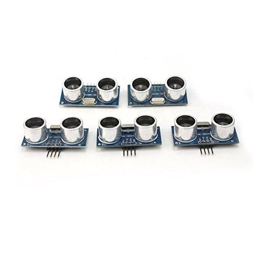 NUOLUX Sensore a ultrasuoni, misuratore di distanza per Arduino 5 DC 5 V HC-SR04-Modulo di misura