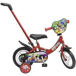 """Toimsa- Vélo 10"""" avec Canne Directionnelle modèle Mickey Mouse 2 à 3 Ans, 1024"""