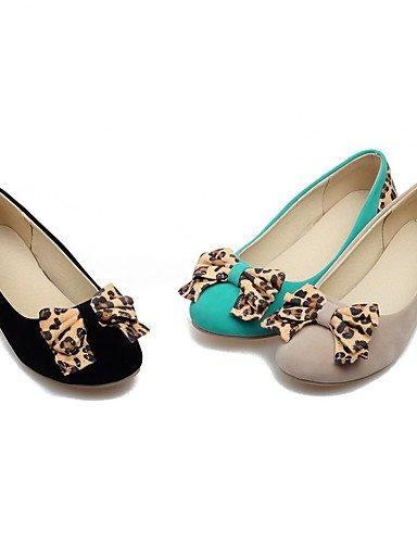 WSS 2016 Chaussures Femme-Habillé / Décontracté-Noir / Vert / Beige-Talon Compensé-Talons / Bout Arrondi-Talons-Similicuir beige-us6 / eu36 / uk4 / cn36