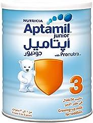 حليب ابتاميل جونيور 3، المرحلة 3، مسحوق حليب للاطفال الصغار من 1-3 سنوات، 900 غرام