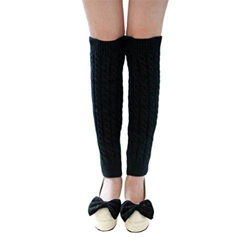 Crochet Trim Knit Skirt (Mythgiftuk 2 Paar Damen Winter Strick Twist gestrickte Beinlinge Legging Boot Cover)