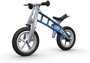 FIRSTBIKE - Bicicleta de Equilibrio con Freno, Modelo Street, Color Azul (L2021)