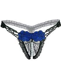 210800f4db Haodou Perlen String mit Spitze Damen Unterhose Unterwäsche Blume Reizvolle  Wäsche Durchsichtige Tanga G-Schnur Schlüpfer Damenwäsche…
