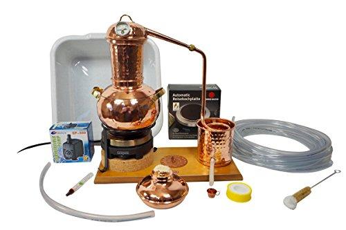 Copper Garden Tischdestille Arabia 2 Liter im Sorgenfrei Paket mit allem Zubehör - Legal und Unkompliziert mit ausführlicher Anleitung