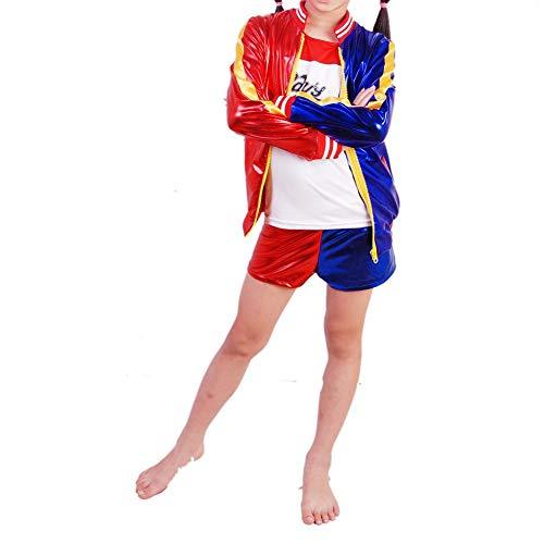 Blue-Yan Costume Enfants DC Superhero Girls Suicide Squad Costume Harley Quinn, Grand Cadeau d'anniversaire pour Fille