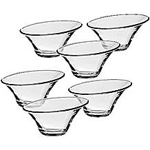 6 x Eiscremeglas, Eisbecher, Eisschale ~ALFA~ transparent, 250ml, Glas (GELATO VERO powered by CRISTALICA)