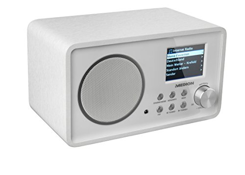 LIFE E85052 (MD 87267) Wireless LAN Internet-Radio, DLNA, UPnP, WLAN, MP3, WMA, weiß