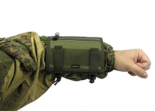 MOLLE Tactical Pouch Case for Map Tactical Papper on Arm Tablet Hand (Olive)