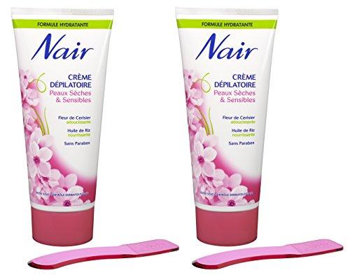 Nair - Crème Dépilatoire Hydratante - Peaux Sèches & Sensibles - Tube 200 ml - Lot de 2