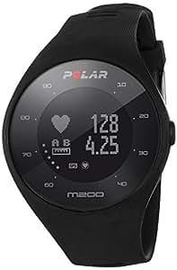 Polar M200, Orologio GPS con Cardiofrequenzimetro Integrato, Monitoraggio Attività Fisica e Sonno, Unisex – Adulto, Nero, M/L
