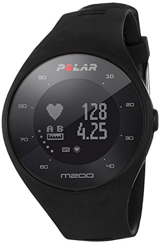 Polar M200 Carrera Watch with GPS and Heart Rate in Wrist, Unisex Adult, Black, M / L