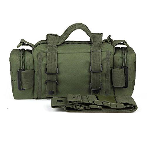 YAAGLE Aufrückend Outdoor Zauberei Gürteltasche Hüfttasche 3P Brustbeutel militärisch Bergsteigen Taschen Sporttasche Fahrradrucksack-khaki armee-grün