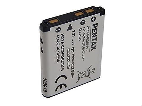 Pentax Li-Ion Batterie 720mAh (3.7V) pour appareil photo, caméscope Olympus Tough TG-310, TG-320 comme