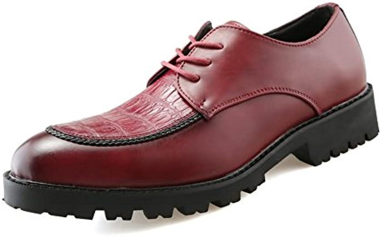 SunnyBaby Männer Arbeitssicherheit runde Zehe Volltonfarbe Lace up Freizeitschuhe Abriebfeste (Farbe : Rot  Größe