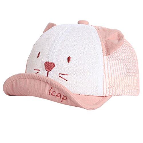 dchen Schirmmütze Kappe Mesh Trucker Baseball Cap (Rot, 1-3 Jahre) ()